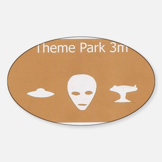 Theme Park Sticker (Oval)
