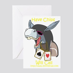 The JackAce has chips and is ready t Greeting Card
