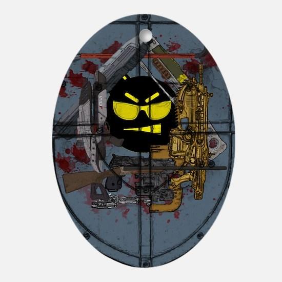 Boom Headshot  Oval Ornament