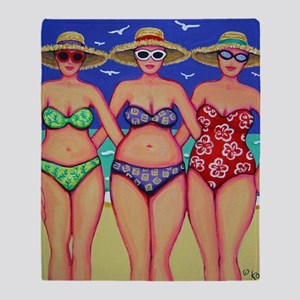 Summer Sisters Friendship Beach Seas Throw Blanket