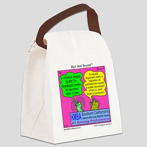 Parameciums Cartoon Canvas Lunch Bag