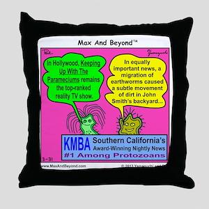Parameciums Cartoon Throw Pillow