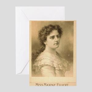 Miss Maxine Elliott - Strobridge - 1889 Greeting C