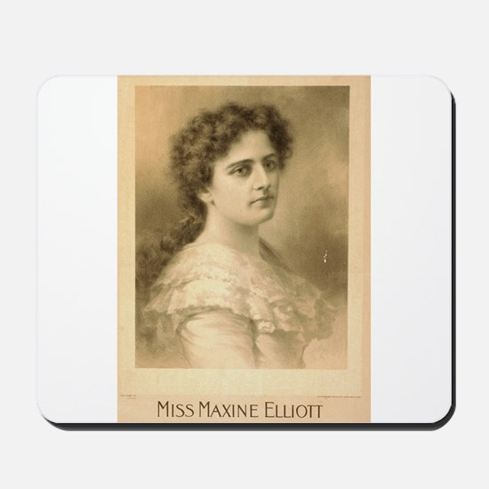 Miss Maxine Elliott - Strobridge - 1889 Mousepad
