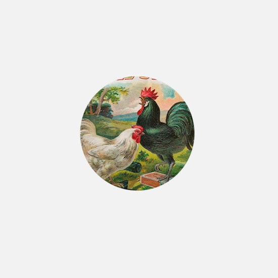 Chickens Mini Button