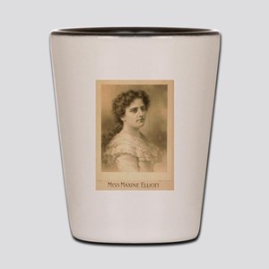 Miss Maxine Elliott - Strobridge - 1889 Shot Glass