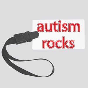 Autism rocks Large Luggage Tag