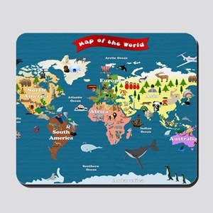 World Map For Kids - Lets Explore Mousepad