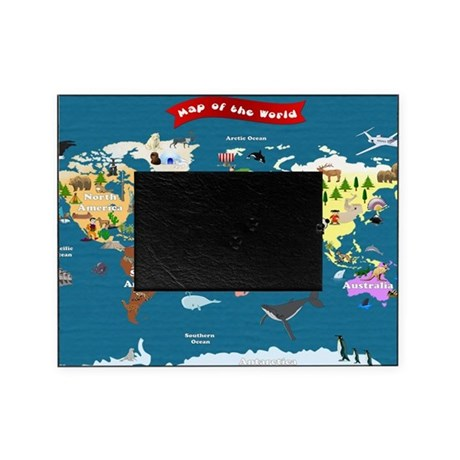 world map for kids lets explore picture frame by admin cp76918700. Black Bedroom Furniture Sets. Home Design Ideas