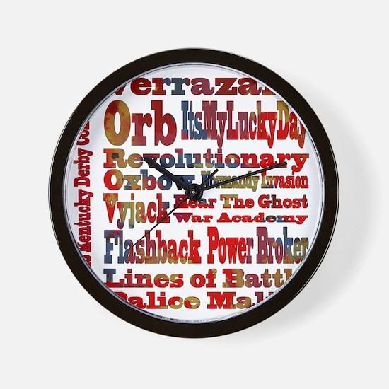 Top 2013 Kentucky Derby Contenders in T Wall Clock