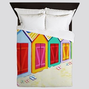 Cabana Row Shower Curtain BU Queen Duvet