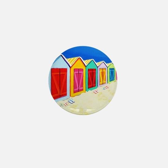 Cabana Row Shower Curtain BU Mini Button