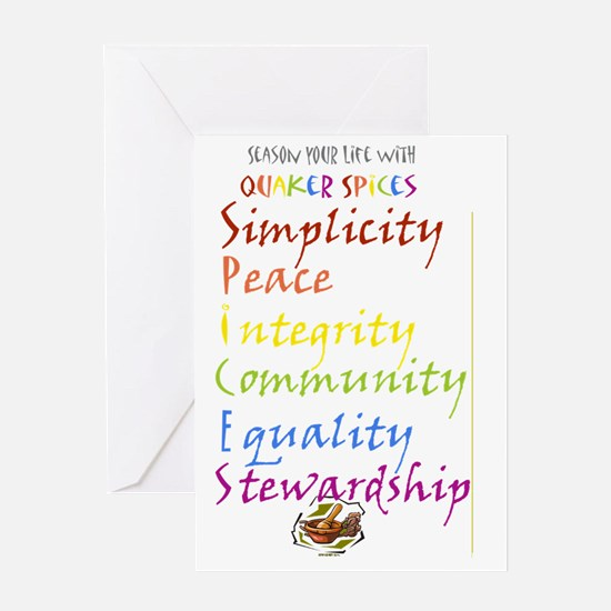 quaker spices Greeting Card
