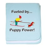 Fueled by Puppy Power baby blanket