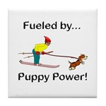 Fueled by Puppy Power Tile Coaster