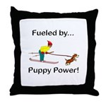 Fueled by Puppy Power Throw Pillow
