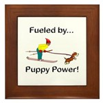 Fueled by Puppy Power Framed Tile