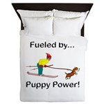 Fueled by Puppy Power Queen Duvet