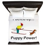 Fueled by Puppy Power King Duvet