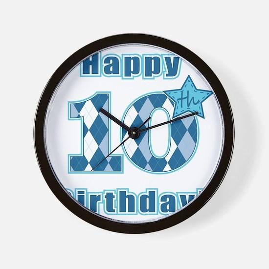 Happy 10th Birthday! Wall Clock