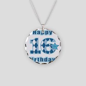 Happy 16th Birthday! Necklace Circle Charm