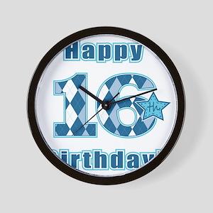 Happy 16th Birthday! Wall Clock