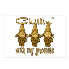 Chillin' With My Gnomies Postcards (Package of 8)