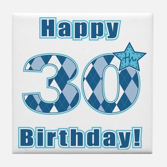 Happy 30th Birthday! Tile Coaster