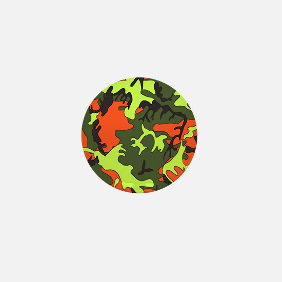 Bright Colored Camouflage Mini Button