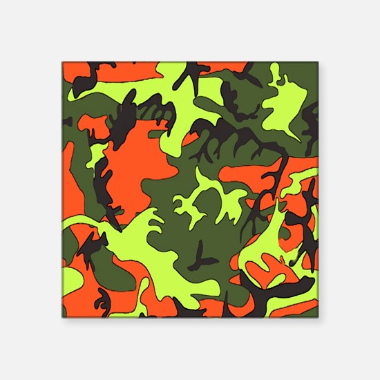 "Bright Colored Camouflage Square Sticker 3"" x 3"""