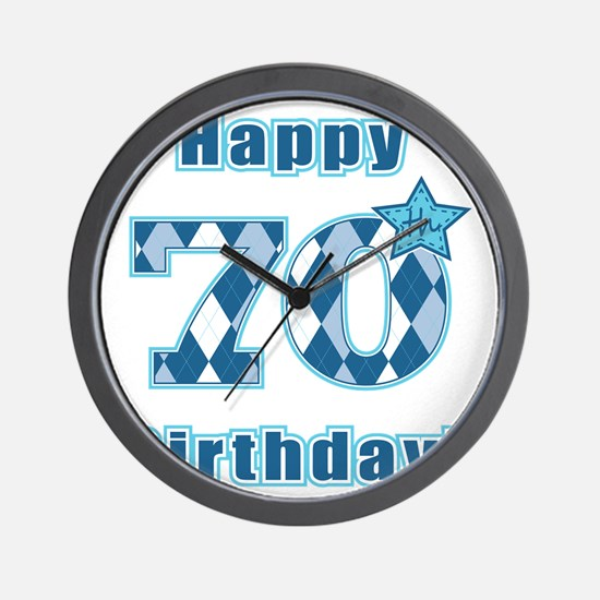 Happy 70th Birthday! Wall Clock