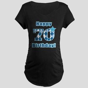 Happy 70th Birthday! Maternity Dark T-Shirt