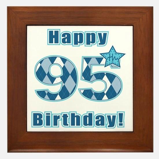 Happy 95th Birthday! Framed Tile