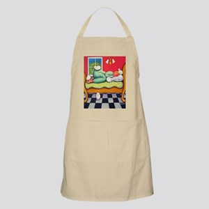 Cat Napping Woman Italy Apron