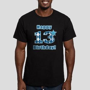 Happy 13th Birthday! Men's Fitted T-Shirt (dark)