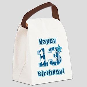 Happy 13th Birthday! Canvas Lunch Bag