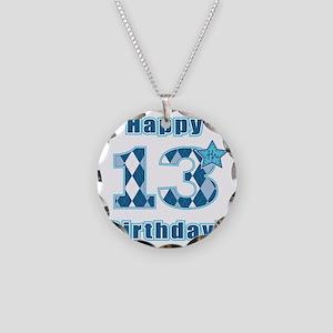 Happy 13th Birthday! Necklace Circle Charm