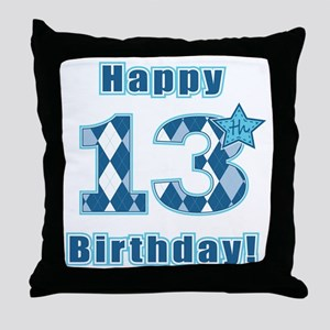 Happy 13th Birthday! Throw Pillow