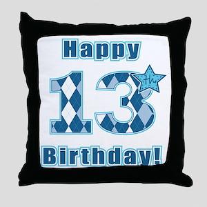 Happy 13th Birthday! Throw Pillow