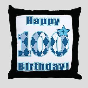 Happy 100th Birthday! Throw Pillow