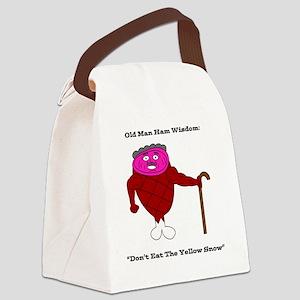 Old Man Ham Canvas Lunch Bag