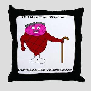Old Man Ham Throw Pillow