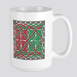 Red & Green Celtic Knotwork Large Mug