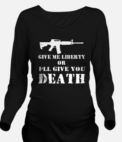 Give Death White Long Sleeve Maternity T-Shirt