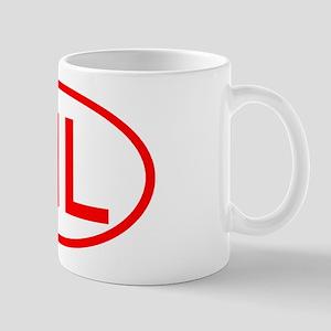 ML Oval (Red) Mug