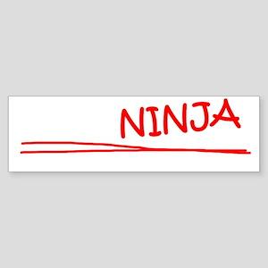 Actuary Ninja Job Sticker (Bumper)