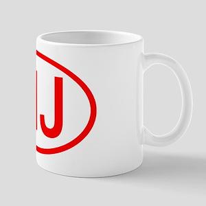 MJ Oval (Red) Mug