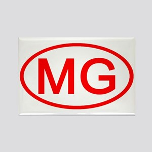 MG Oval (Red) Rectangle Magnet