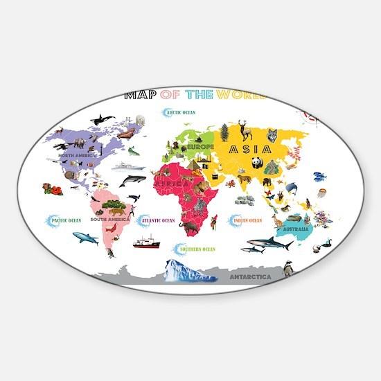 Kids world map hobbies gift ideas kids world map hobby gifts for interactive world map for kids whi sticker oval gumiabroncs Choice Image