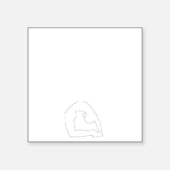 "Ashtange Save My Life Square Sticker 3"" x 3"""